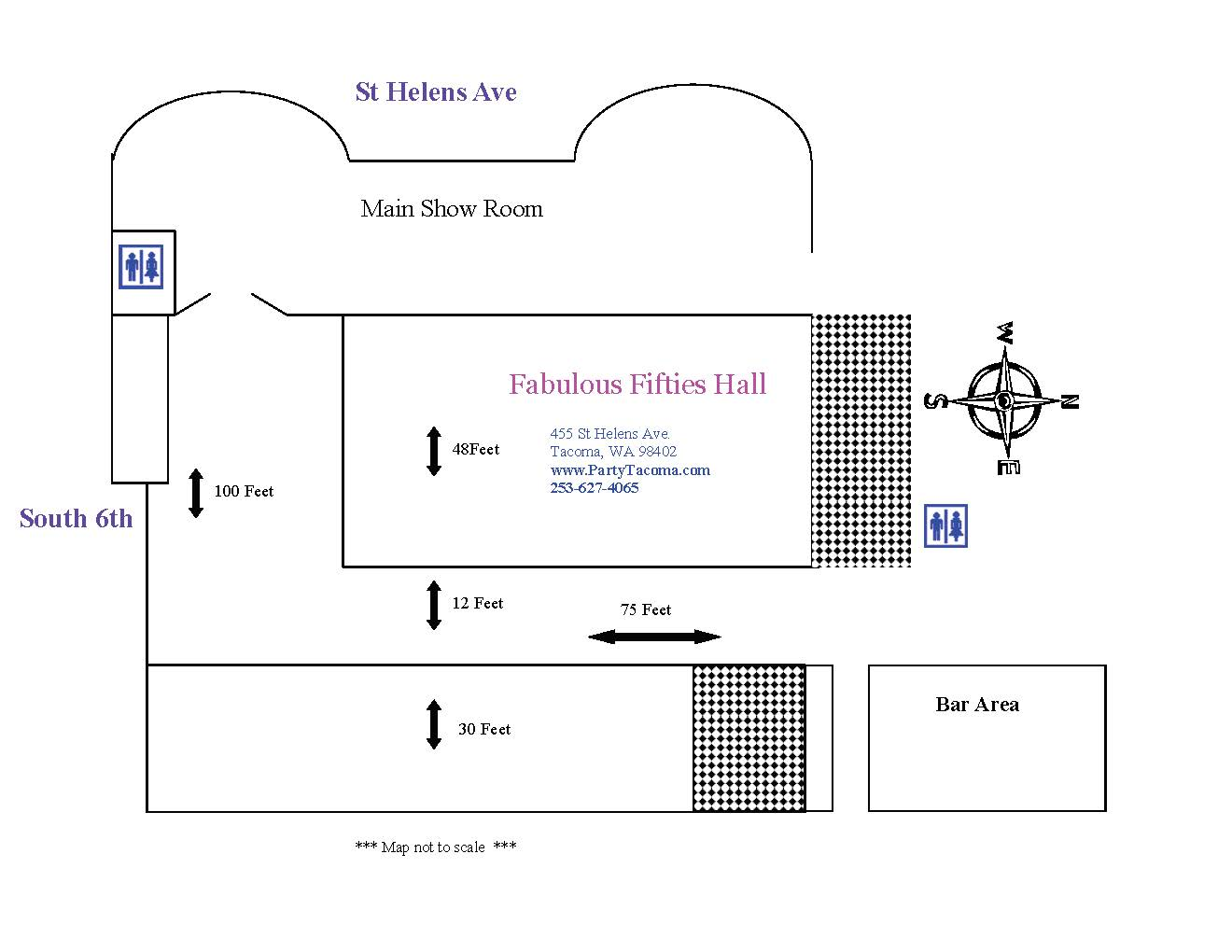 The Fabulous Fifties Hall Layout *** Not to scale